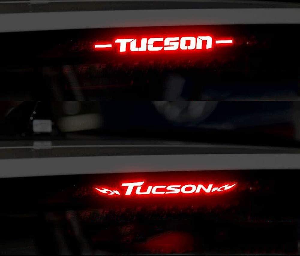 para Hyundai New Tucson Trasero Montaje Alto Stop Lamp Cubierta Calcoman/ías Decoraci/ón Accesorios Coche Carbono Fibra Freno L/ámpara Etiqueta Engomada