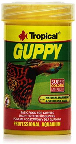 Tropical Guppy Flockenfutter für Guppies und Lebendgebärer, 100ml