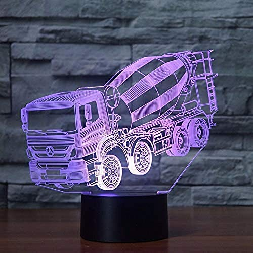 Nightlight Touch Led 7 Colors Changing Mixer Truck Night Light 3D Blender Car Table Desk Lamp Children s Bedside Sleep Lighting Xmas Gifts Decor