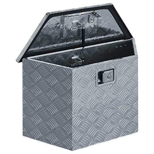 vidaXL Werkzeugbox Aluminium 70x24x42cm Trapezförmig Alubox Transportkiste - 4