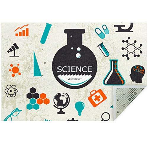 Bennigiry Science Elements con tubos de ensayo, alfombra para sala de estar, dormitorio, sala de juegos, 60 x 39 pulgadas
