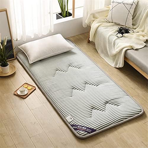 Colchones Futón colchón espesor 5 cm, colchón de piso japonés plegable tatami colchón de piso portátil colchón de camping colchón niños almohadilla de dormir piso tumbona sofá cama Textiles del hogar
