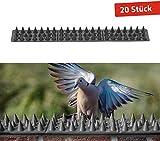 Gardigo Dornenleiste 20 Stück I Vogel- und Katzenabwehr I Dornengitter für Mauern und Zäune I 6 m Gesamtlänge
