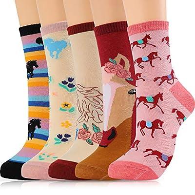 Merclix Niñas Unicornio Calcetines Divertidos Dibujos Algodon Regalos Para Mujer