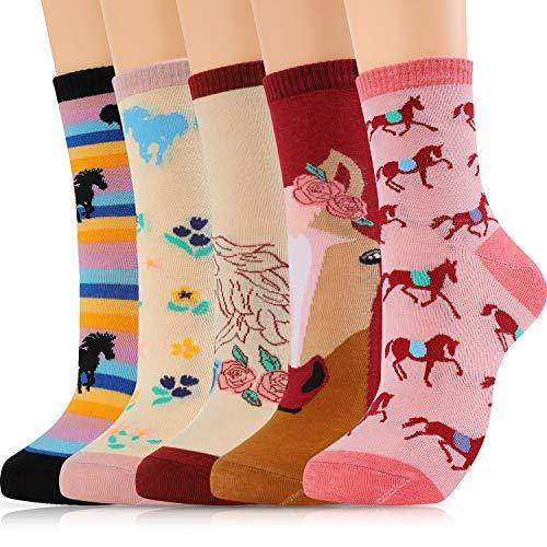 Moyel Flamingo Socks Women, 5 Pairs of Funny Cute Socks Flamingo Gifts for Women