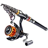 Goture Fishing Rod and Reel Combo Set 10.83FT Telescopic Fishing Rod Spinning Reel GT 4000 for Freshwater Saltwater