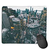 Teesofun Unique Mouse Pad New York City Buildings Rectangle Rubber Mousepad 8.66 X 7.09 Inch Non-Slip Gaming Mouse Pad