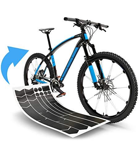 Blackshell® Fahrrad Schutzfolie - starker Rahmenschutz für z.B. Trekkingrad, MTB, Rennrad oder E-Bike - 24-teilig in Carbon Schwarz - Steinschlagschutz-Set