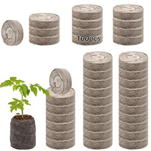 ZeeDix 100 Pcs (30mm) Peat Pellet Fiber Soil Plant Seed...