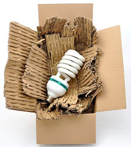 jameitop®Füllmaterial mind. 4kg Füllstoff 10-40cm breit Polstermatten Karton-Schredder Papp-Shredder perfekt für Schuhkartons/Maxibriefe