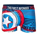 Costume Mare Boxer Parigamba da Bagno Captain America Avengers Marvel (Rosso 1869, 6 Anni)
