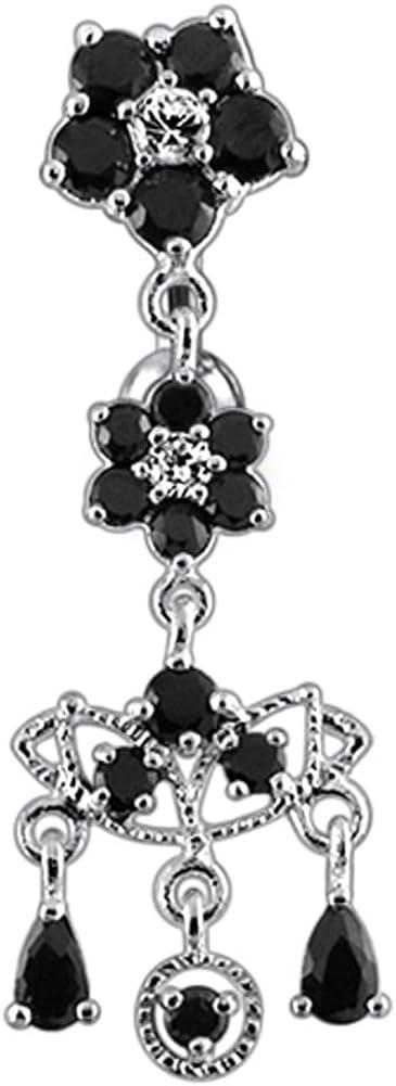 Max 84% OFF AtoZ Piercing Fancy Chandelier Flower Dangling In stock 925 Silv Sterling