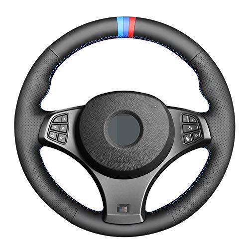 DYBANP Coprivolante, per BMW X3 (M Sport) E83 2005-2010, Pelle Nera Cucita a Mano Fai da Te Traspirante e Antiscivolo
