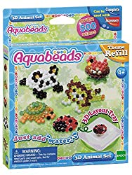 Over 500 beads in eight colours Contains four template sheets and one 3D layout tray From Aquabeads; comes with both jewel and solid beads Suitable for ages 4 years to 14 years