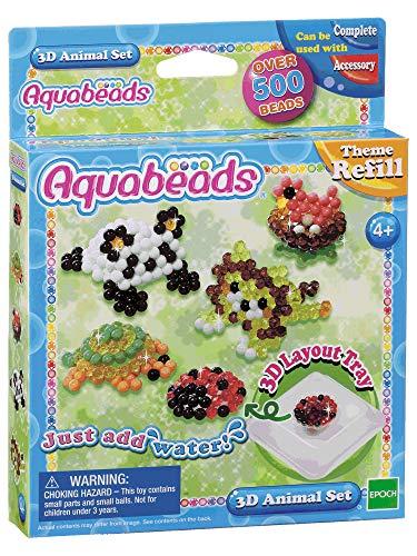 Aquabeads 79218 3D Tier Set - Bastelset Themen Nachfüllset