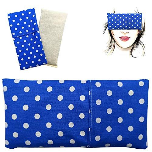 Almohada para los ojos 'Alma Azul' (1 relleno y 1 fundas lavables) | Semillas de Lavanda y semillas de arroz | Yoga, Meditación, Relajación, descanso de ojos...