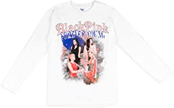 YG Entertainment Idol Goods Fan Products Select, Blackpink in Your Area Long Sleeve T-Shirts (White, M)