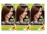 Garnier Nutrisse Nourishing Color Creme, 50 Medium Natural Brown, 3-Pack (Packaging May Vary)