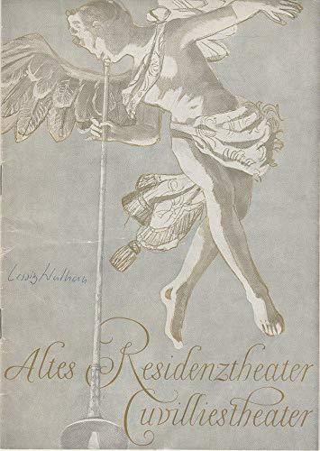 Programmheft Lessing: NATHAN DER WEISE Premiere 27 Oktober 1965 Altes Residenztheater Cuvillies-Theater