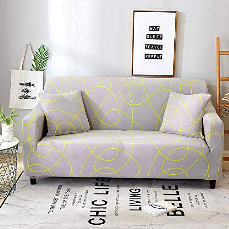 FloralStretch Elastic Sofa Cover Cotton Sofa Towel Slip-Resistant sofafor Living Room   colour13, 2-Seater 145-185cm