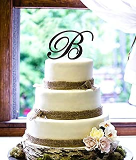 Personalized Cake Topper - Script Initial