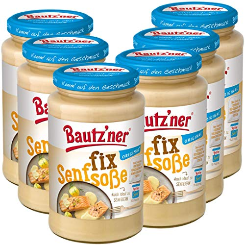 BAUTZ'NER Fix Senfsoße, 6er Pack (6 x 400 ml)