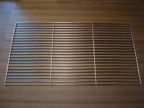 Grillrost Edelstahl Grillgitter eckig Grillaufsatz in 2 Größen 60x40cm 58x30cm (Edelstahl, 58x30 cm)