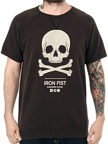 Iron Fist - Herren Engineered Logo Sweater - Vintage Logo (Schwarz) (S-XL) (S)