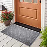 "Door Mat, 24"" x 36"" PVC Non-Slip Waterproof Indoor Outdoor Doormat, Easy Clean"