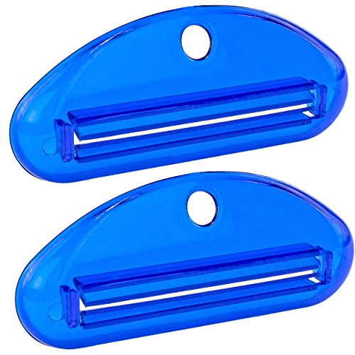 Multi-Purpose Tube Squeezer - Toothpaste Saver, Pack of 2, Blue