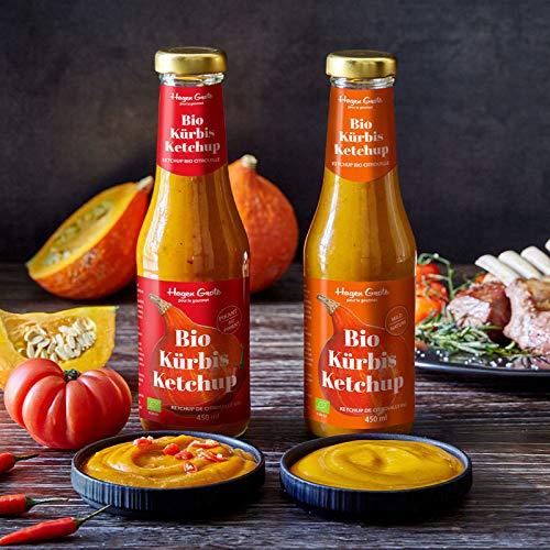 Bio Kürbis-Ketchup Set - hocharomatisch, mild und pikant, nur 10% Zucker