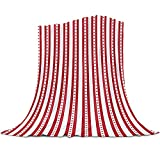 SPXUBZ Manta de franela de 150 x 200 cm, diseño de hojas de arce de Canadá, color rojo, suave, acogedora y ligera, para sofá de cama, sofá
