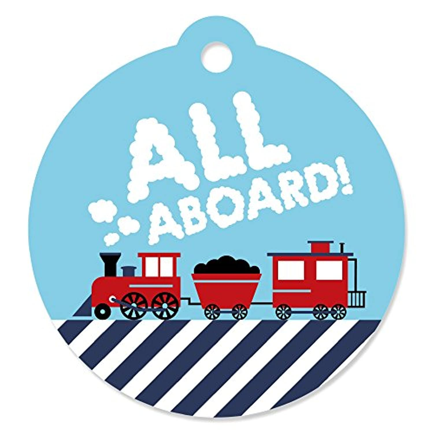 Railroad Party Crossing - Steam Train Birthday Party or Baby Shower Favor Gift Tags (Set of 20)