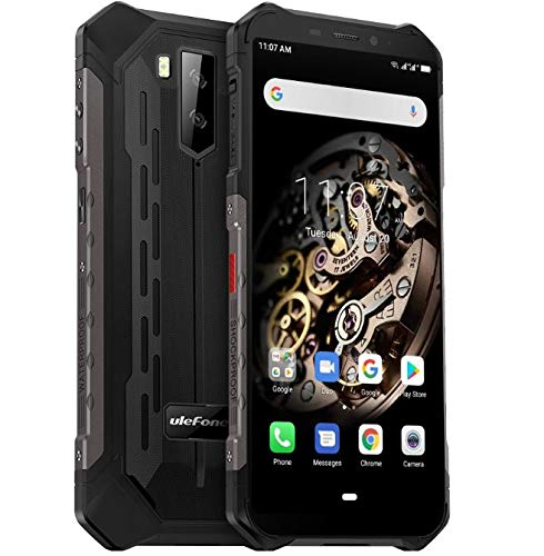 "Ulefone Armor X-5 4G Móvil Antigolpes, MTK6763 Octa-Core 3GB RAM 32GB ROM, Android 9.0 5.5 ""IP68 Impermeable Moviles Todoterreno, Dual SIM, 5000mAh Batería, Desbloqueo Facial NFC Negro"