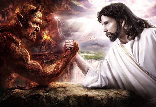 WholesaleSarong Jesus Christ Devil Satan god Good vs Evil Paper Poster 14' x 20' Beautiful Bedroom Designs