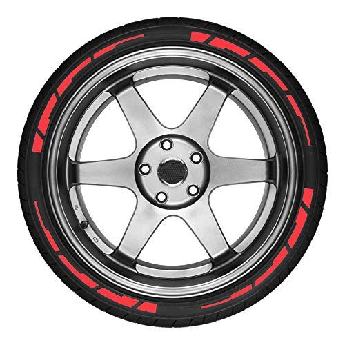 Etiquetas engomadas del neumático del coche, Etiquetas engomadas de la letra del neumático del coche, Etiquetas engomadas decorativas de la letra del neumático, Uso para motocicleta de coche