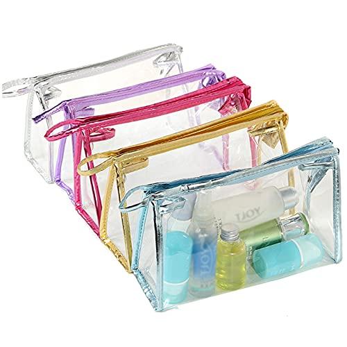 5 Piezas de Neceser Transparente Kit de Viaje en avión Neceser Transparente Impermeable para Ducha Se Utiliza para Almacenamiento de baños de Vacaciones,Viajes, Actividades al Aire Libre,hoteles, etc