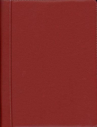 Pierre Belvedere Executive A4/Letter-Size Zip Portfolio, Refillable, Red (578800)