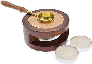 Kupfer Schmelzofen mit Holz Basis passend f/ür DIY Siegelstempel Basteln kesoto Hochwertig Siegelwachs Kit Kupfer Schmelzl/öffel