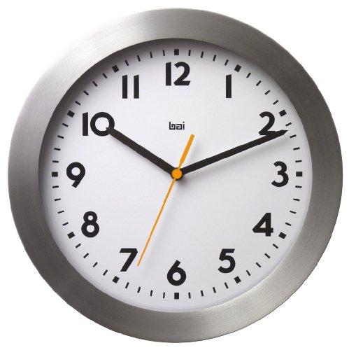 BAI Brushed Aluminum Wall Clock, Landmark