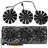 TELESON PLD09210S12HH Gaming Cooler 6pin Mining Card Cooler Fans for ASUS Strix R9 390X 390 RX 480 RX 580 GTX 980 Ti 1060 1070 1080 Fan Gaming Graphics Card (A Group of Three)