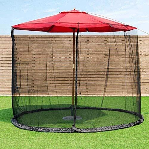 XBR 2021 New Parasol Gazebo Umbrella Tu Parasol en un Gazebo Garden Mosquito Cover Umbrella Net con Cierre de Cremallera, Tubo de Agua en la Base para sujetarlo en el Interior y Exterior
