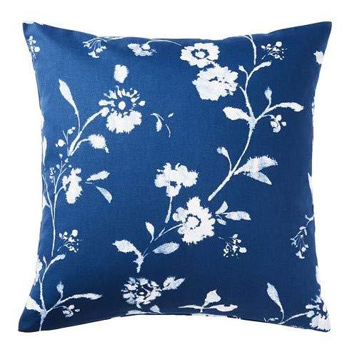 IKEA BLAGRAN poszewka na poduszkę w kolorze niebieski/białym; 100% bawełna; (50 x 50 cm)