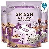 Cookie Dough 3-Pack by SMASHMALLOW | Snackable Marshmallows | Non-GMO | Organic Cane Sugar | 100 Calories | 4.5 Ounces per Pack