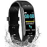 Pulsera Inteligente Reloj Deportivo - con 7 Modos de Deporte, Monitor Actividad Fisica, GPS, Frecuenda Cardíaca , Notification de Mensaje, Calorías,Podómetro,Sueño, Reloj Inteligente IP68 para Mujer y Hombre