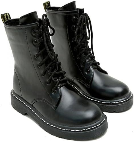 Bottillons à lacets Cheville à à bout rond Chaussures de sport quotidiennes pour femmes , 36 , noir  le prix le plus bas