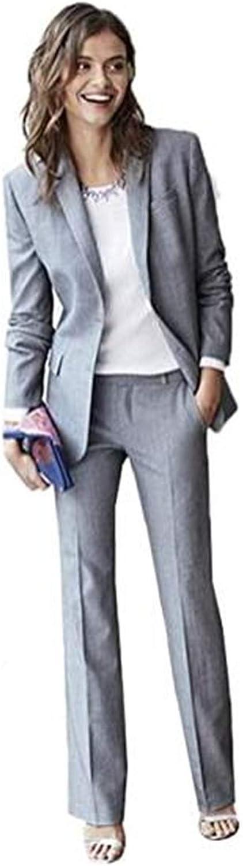 2 Pcs Women's Pantsuits Slim fit Blazer Tuxedo Pants & Jacket Set Prom Plus Size