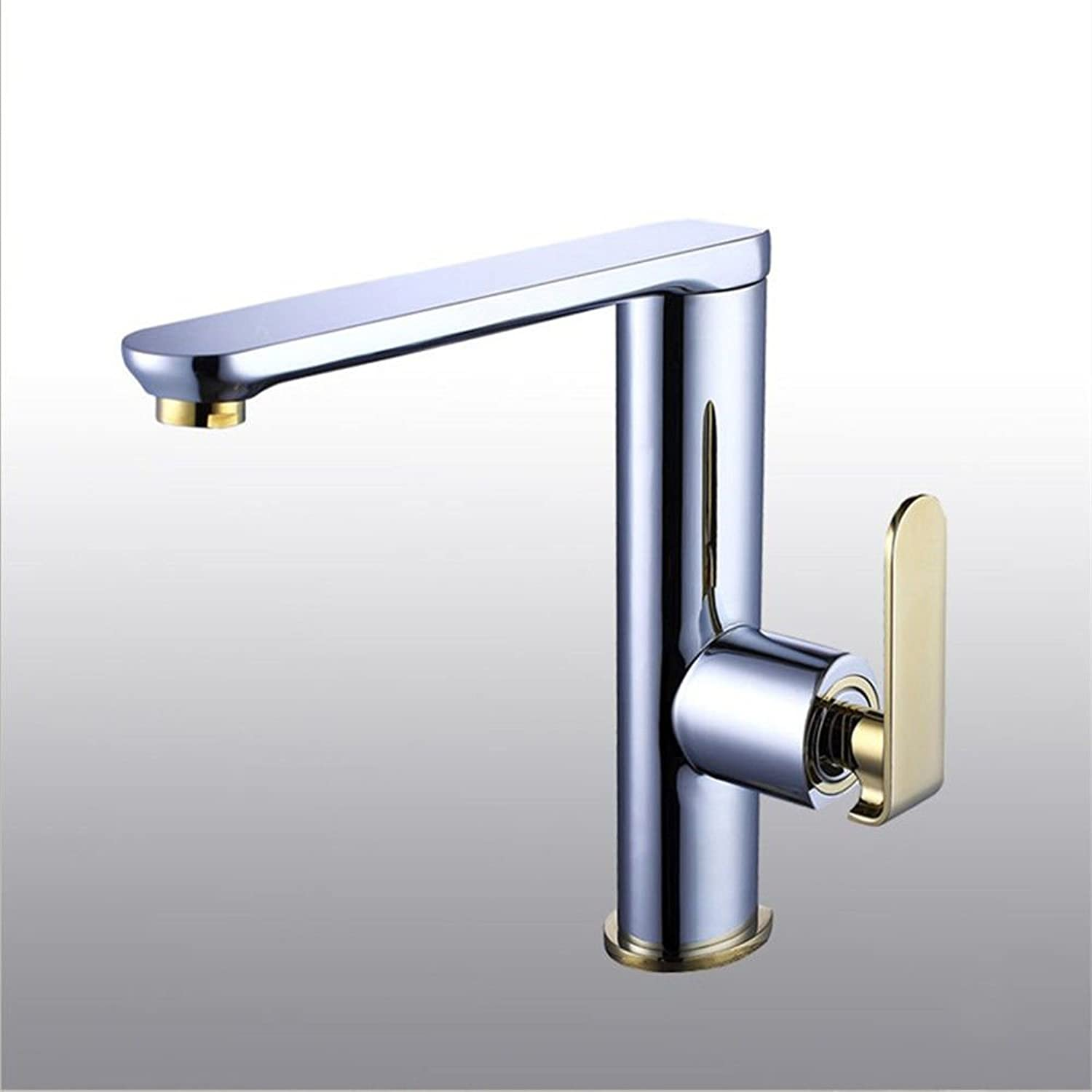 SADASD Contemporary Bathroom Full Copper Basin Faucet Mixer redating Kitchen Black Brushed Basin Sink Mixer Tap Ceramic Valve Single Hole Single Handle Cold Water With G1 2 Hose