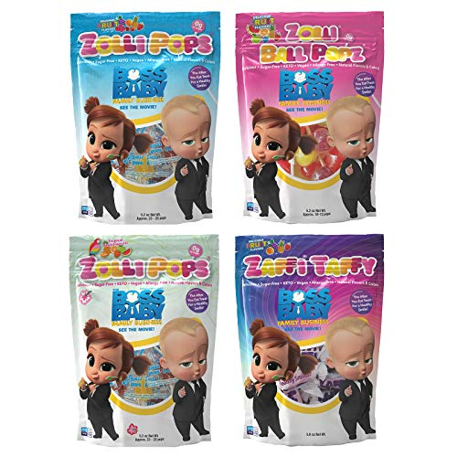 Zollipops Clean Teeth Lollipops Boss Baby Bundle 5oz   Anti-Cavity, Sugar Free Candy with Xylitol for a Healthy Smile, Clean Teeth - Great for Kids, Diabetics and Keto Diet