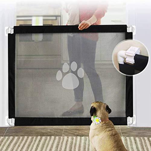 Magiczna brama dla psów, 2020 nowa trwała bramka ochronna dla zwierząt domowych przenośna bramka zabezpieczająca dla niemowląt magiczna brama do drzwi, schodów, korytarzy